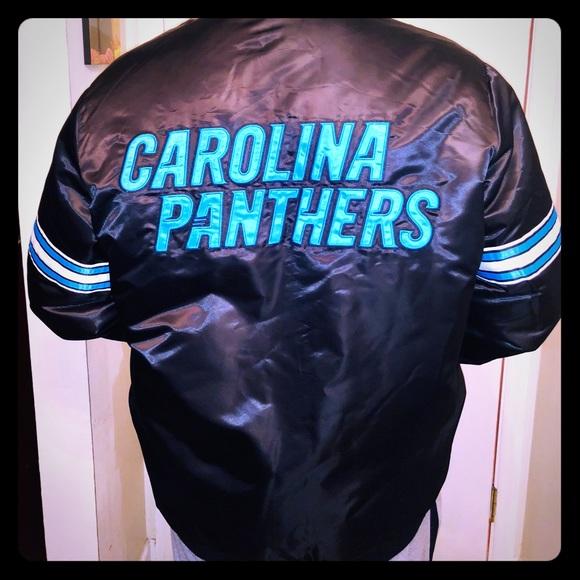 🆕CAROLINA Panthers NFL Starter REVERSIBLE JACKET 9f4de6ebb